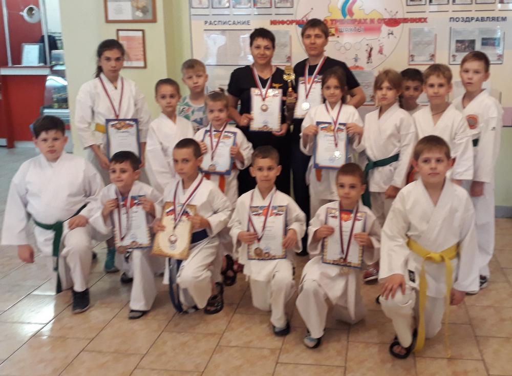 Два кубка и 14 медалей выиграли шахтинцы в областном турнире по карате