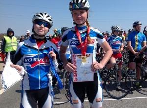 В велогонках на 5, 10, 17 и 34 км шахтинки десять раз становились победителями и призерами областного первенства