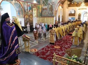 Праздничным богослужением отметили семь лет со дня образования Шахтинской епархии