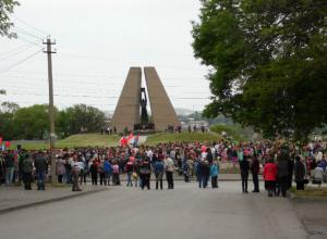 День Победы в Шахтах начался на мемориале поселка  имени Красина