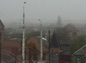 Густой туман поглотил город Шахты