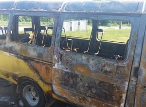В результате поджога в Шахтах сгорела маршрутка