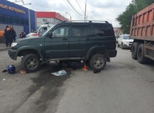 18-летний мотоциклист залетел под «УАЗ Патриот» в Шахтах