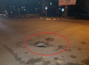 Два месяца «ловит» машины открытый люк в Шахтах