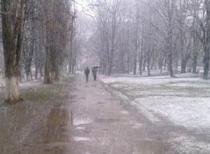 Ледяной дождь и сильный ветер ждут Шахты в среду