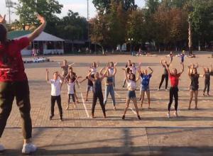 Самых смелых и спортивных собрал флешмоб в Шахтах