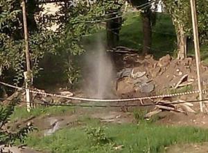 Новый фонтан забил на ХБК в Шахтах