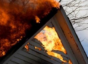 Вечером в Шахтах сгорел большой частный дом
