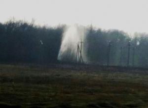 Новый фонтан дорогой питьевой воды забил под Шахтами