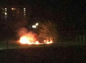 Ночью горел стадион школы № 20 в Шахтах