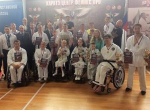 Шахтинские каратисты параолимпийцы участвовали в соревнованиях и одержали победу