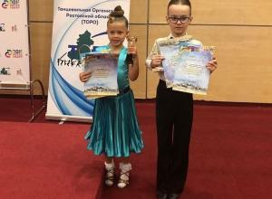 Две пары малышей заняли первые места на областном конкурсе «Спортивные танцы Дона».
