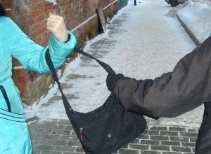 Средь бела дня на шахтинку напал молодой преступник и отобрал сумку