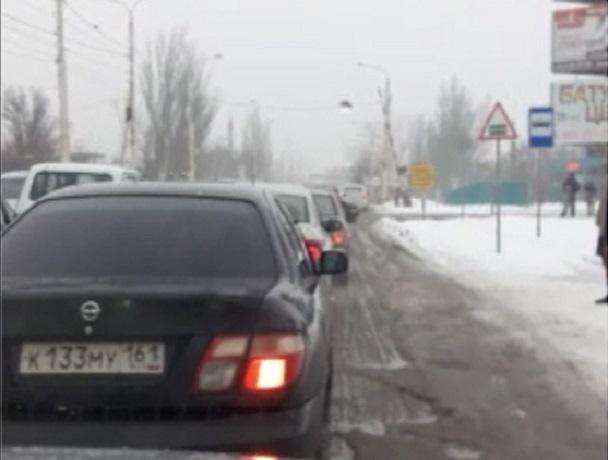Улица Шишкина в Шахтах стала в пробке