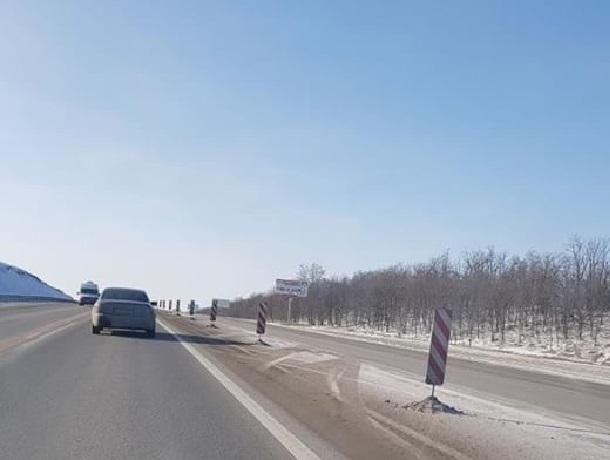 Под Шахтами закрыл полосу федеральной трассы
