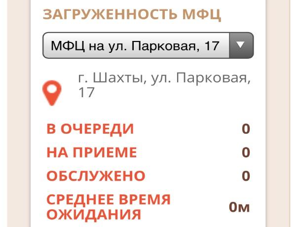 Шахтинский МФЦ закроет свой ТОСП на Парковой