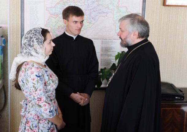 «Совет да любовь!»: епископ благословил шахтинского семинариста на создание семьи