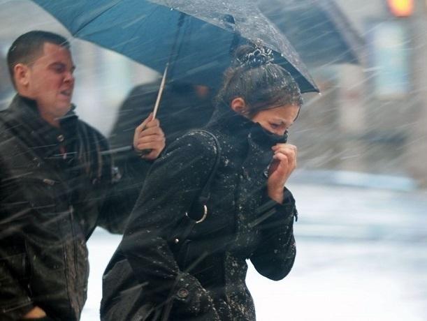 Шквалистое усиление ветра с дождем и мокрым снегом ожидается в Шахтах