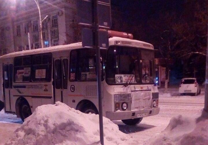 Водитель автобуса оставил на морозе пожилого шахтинца, не пустив погреться в салон