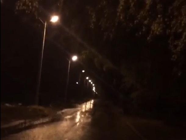 «Было приятно прогуляться вечерком по светлому посёлку» - рассказала шахтинка