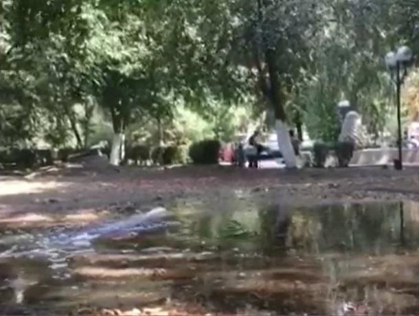 В Шахтах фонтан «переехал» на газон